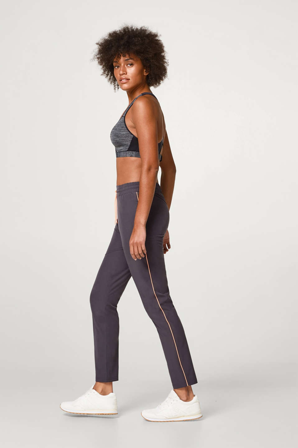 Esprit - Active trousers with neon details, E-DRY