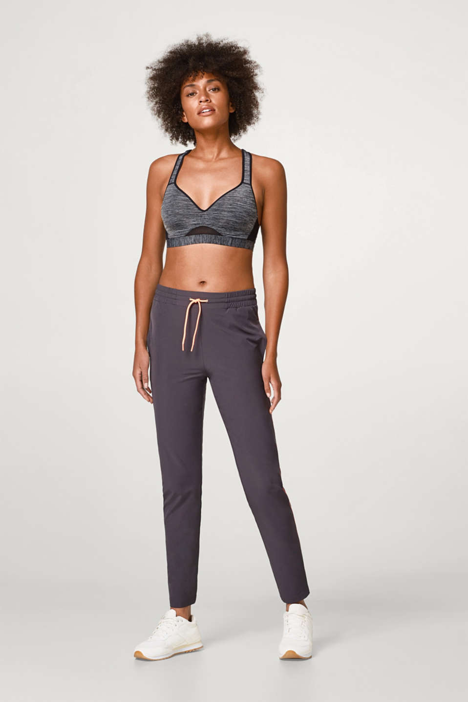 Active trousers with neon details, E-DRY