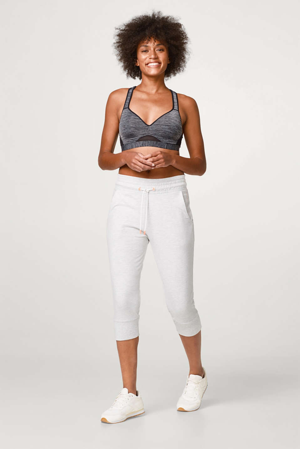 Esprit - Jersey Capris with ribbed cuffs and waistband