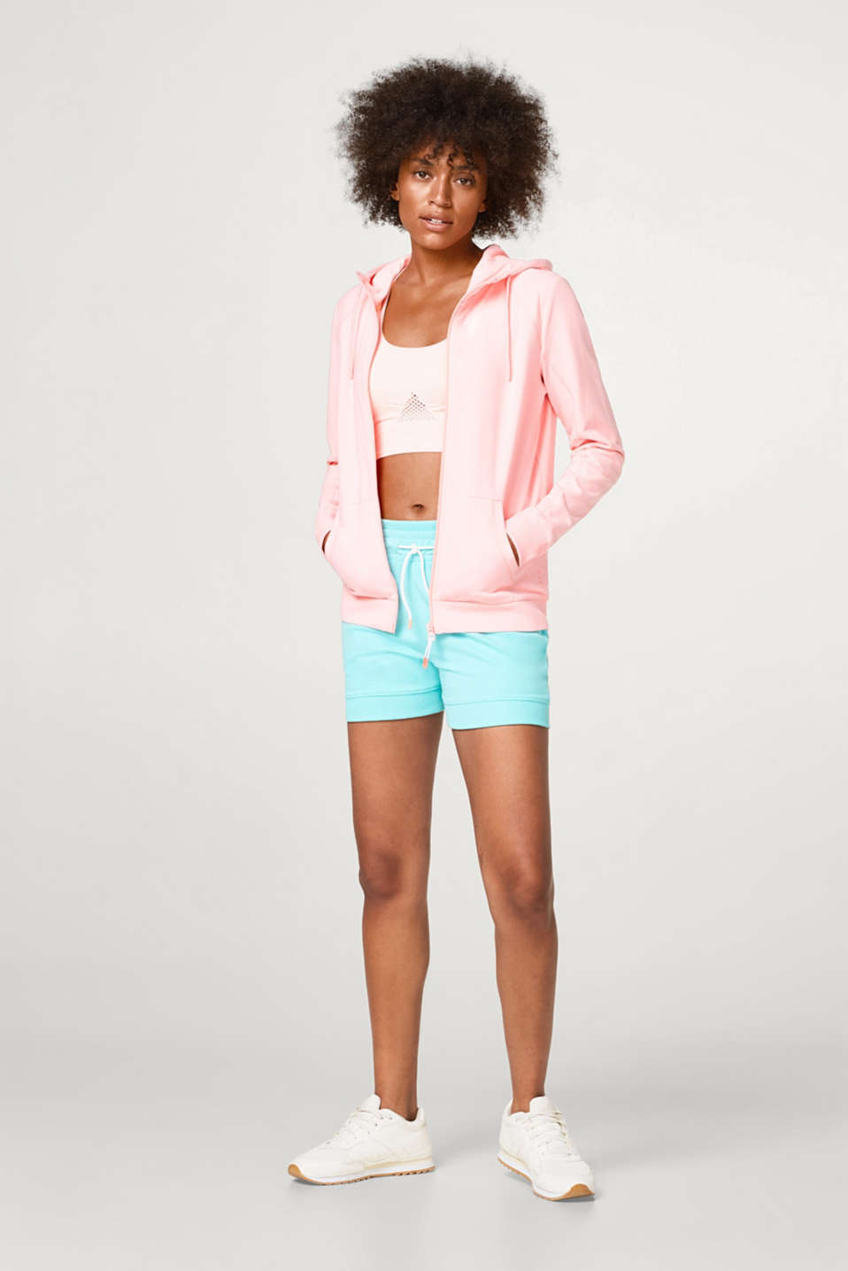 Soft jersey cardigan with neon accents