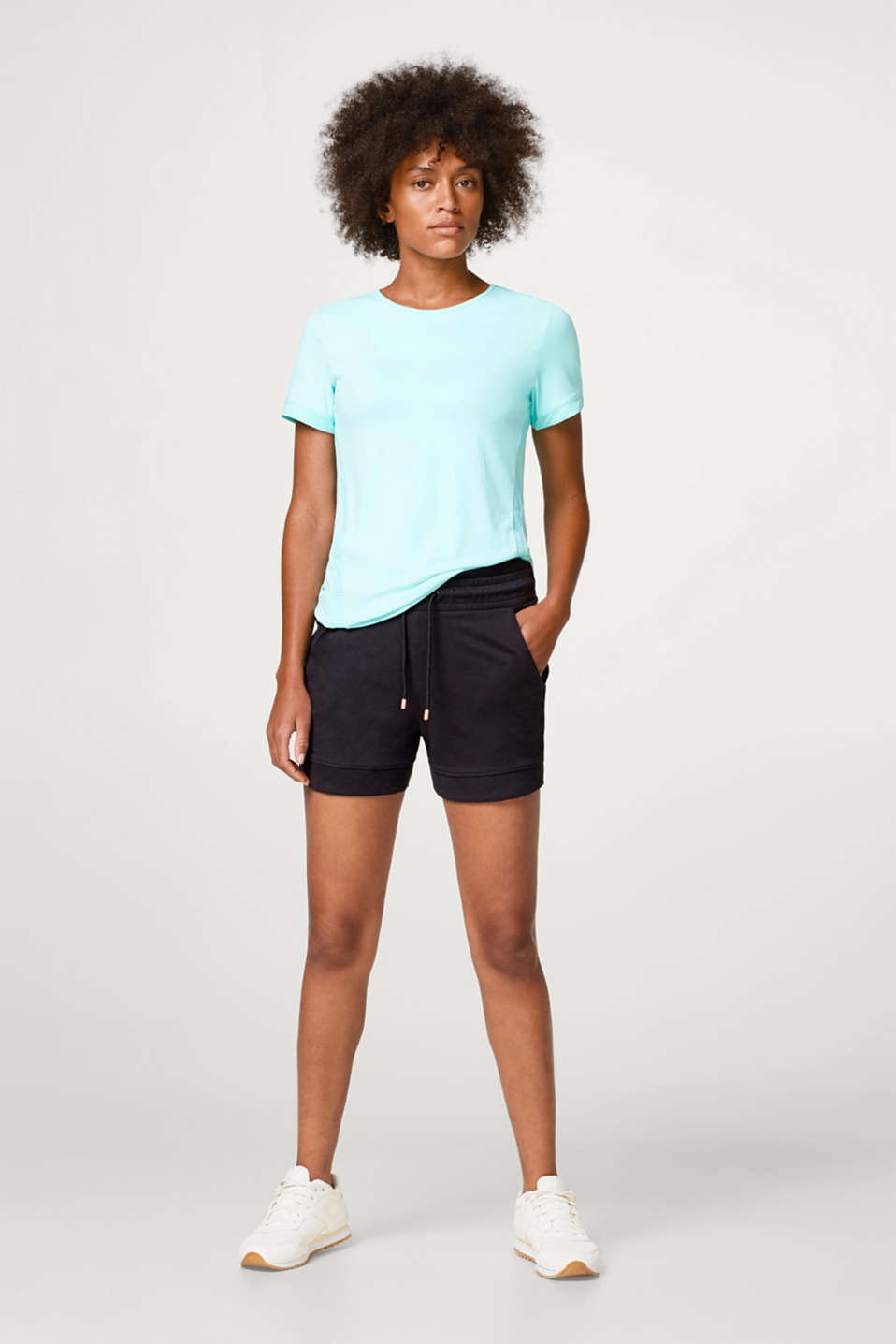 Active top with laser-cut details, E-DRY