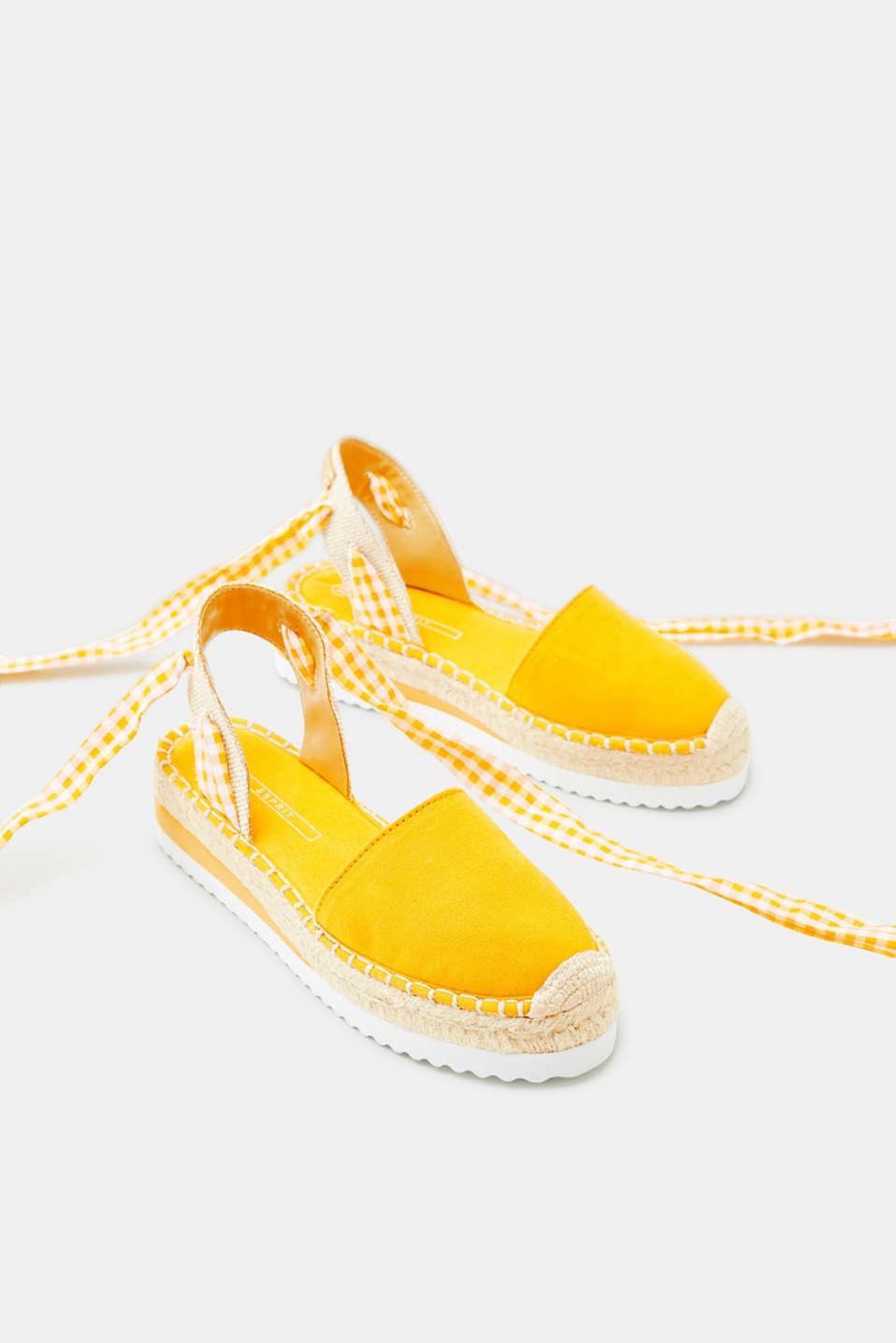 Espadrilles with platform soles, in canvas