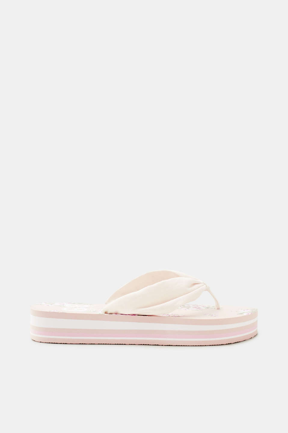 Esprit - Toe-post sandals with a floral printed platform sole
