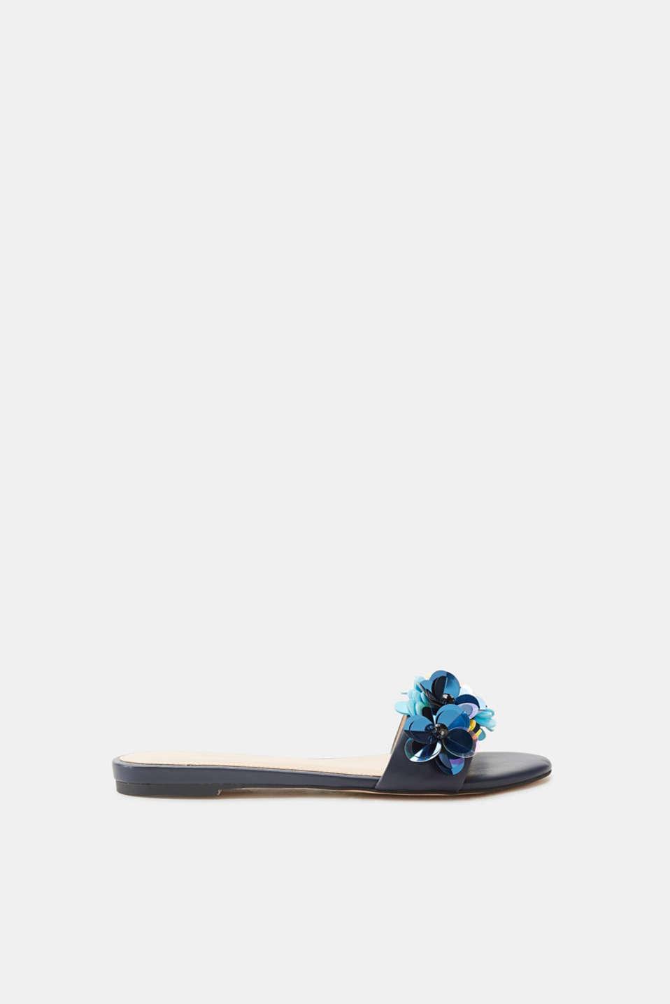 Esprit ESPRIT Sandale mit floral angeordneten Pailletten, blau, BLUE LAVENDER