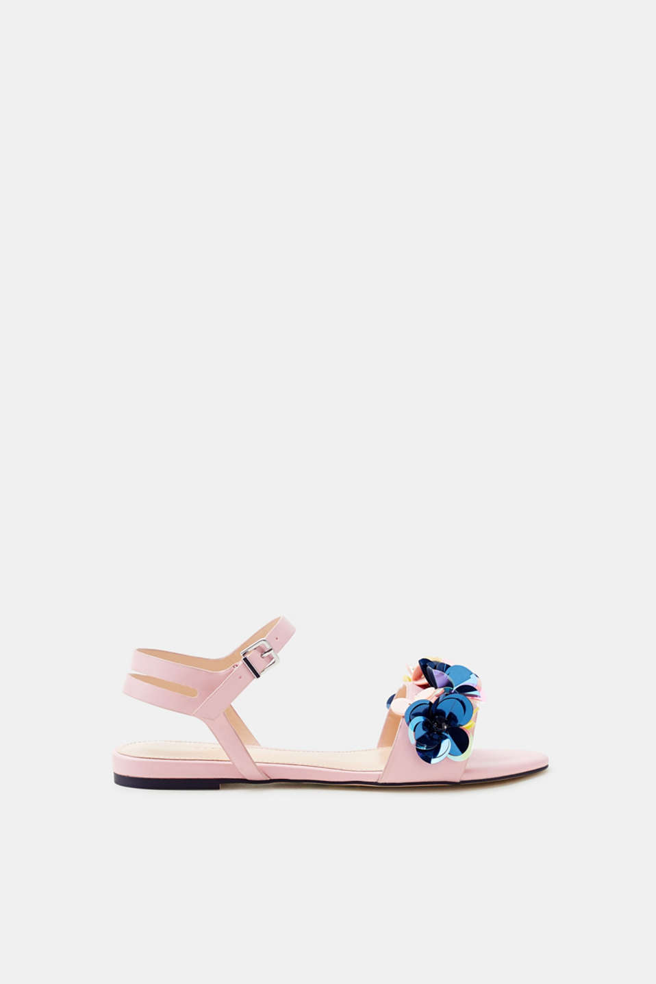 Esprit - Sandals with sequins arranged in a floral style