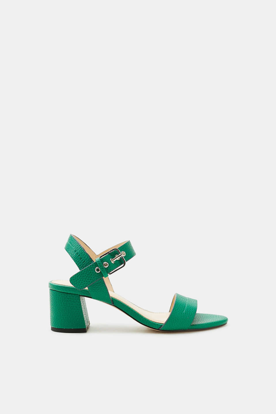 The stunning summer colour and modern shape with a block heel make these sandals a summer favourite.