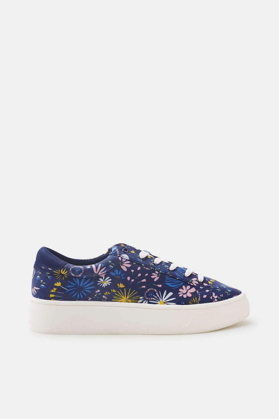 Esprit - Sneakers à plateforme à imprimé floral all-over