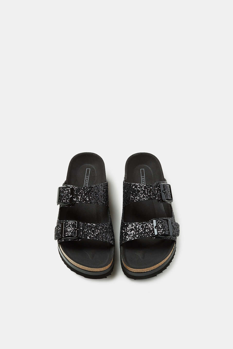 Glittering sliders, vegan manufacture