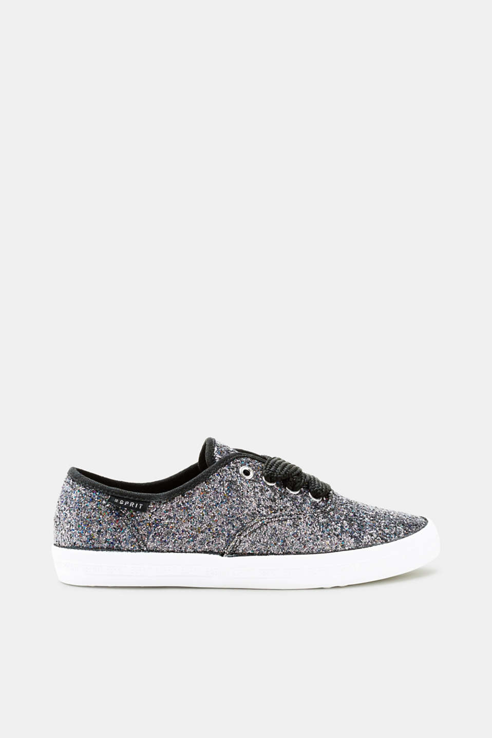 Esprit - Glitter trainers with distinctive shoelaces
