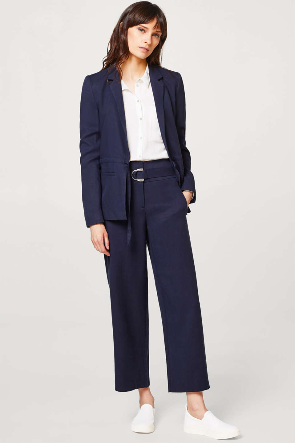 LYOCELL STRUCTURE mix + match culottes with a belt