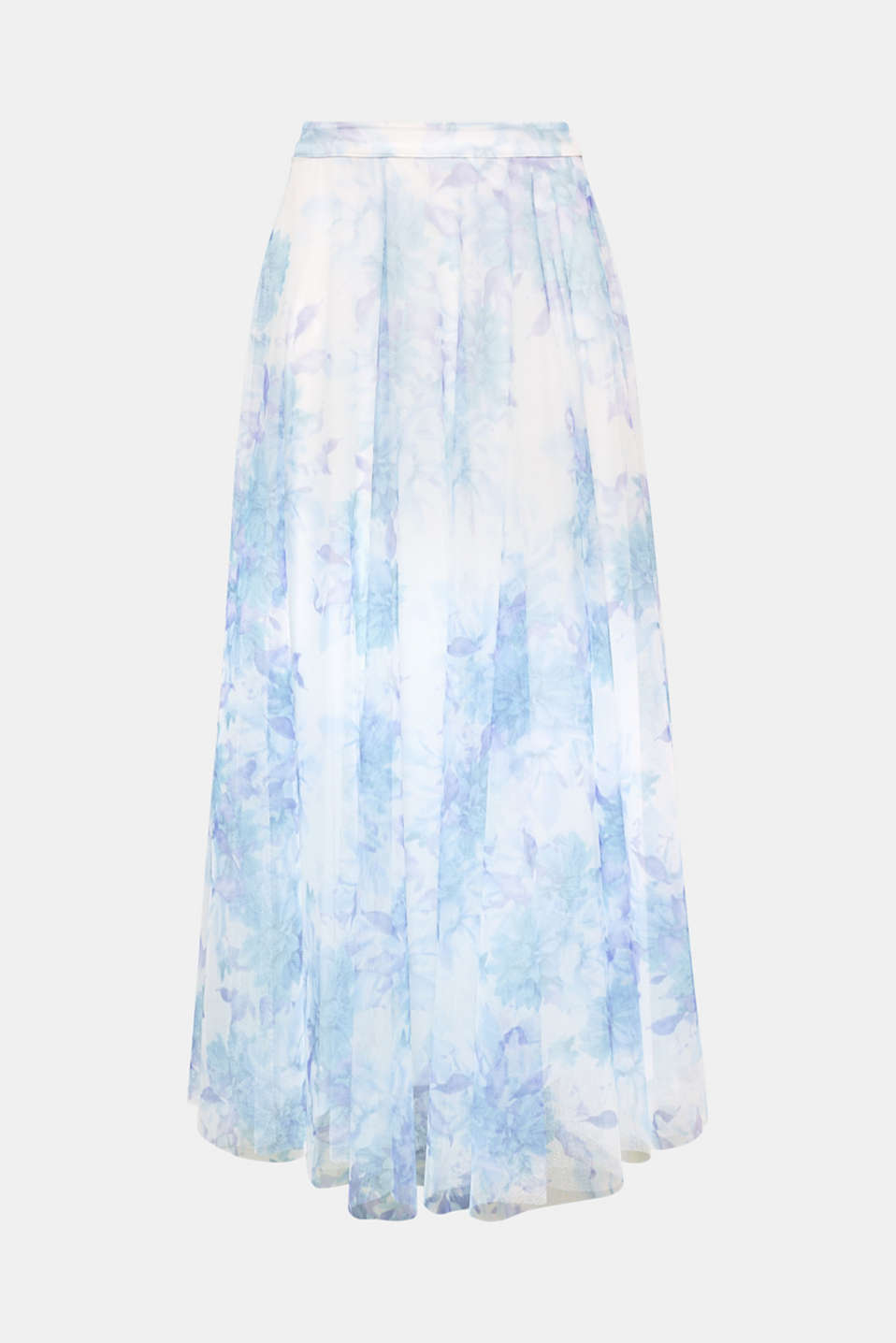 For your summery festive look: This maxi skirt gets an especially light and airy look from the fine tulle and delicate floral print!