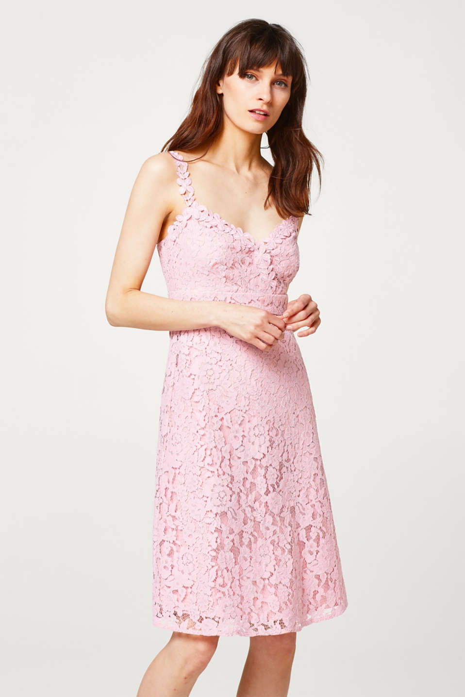 Esprit - Floral lace strap dress