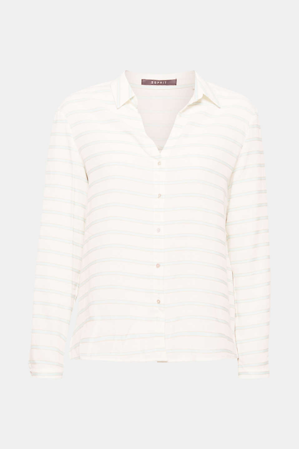 Style this casual shirt blouse with a horizontal stripe design and an open shirt collar for casual or chic looks and enjoy the soft comfort every time!