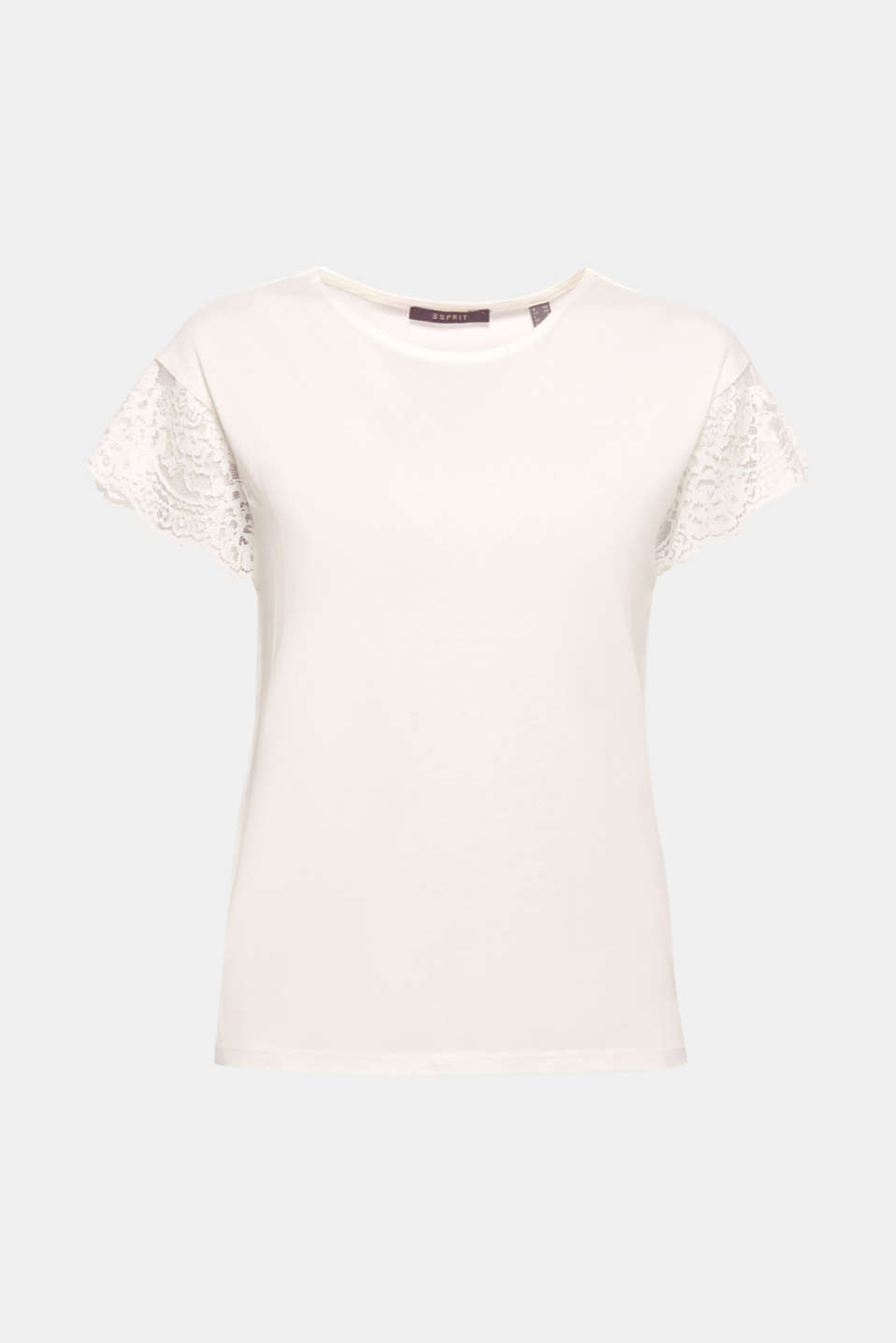 We love lace in all forms! In this wonderfully lightweight top, the lace used for the short, wide sleeves is an elegant eye-catching feature!