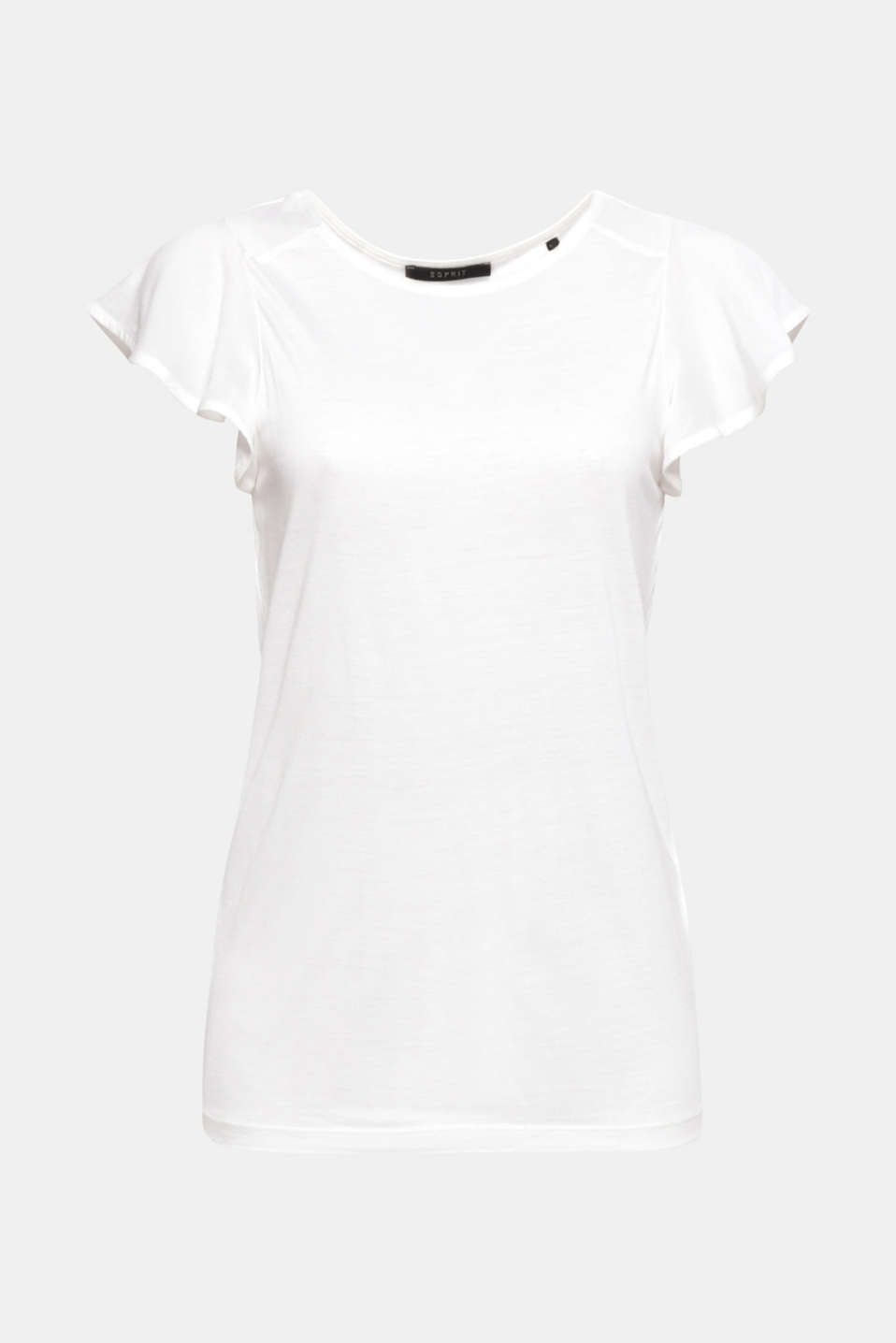 The pretty, fabric flounce sleeves effectively emphasise the extraordinary lightness of this T-shirt!