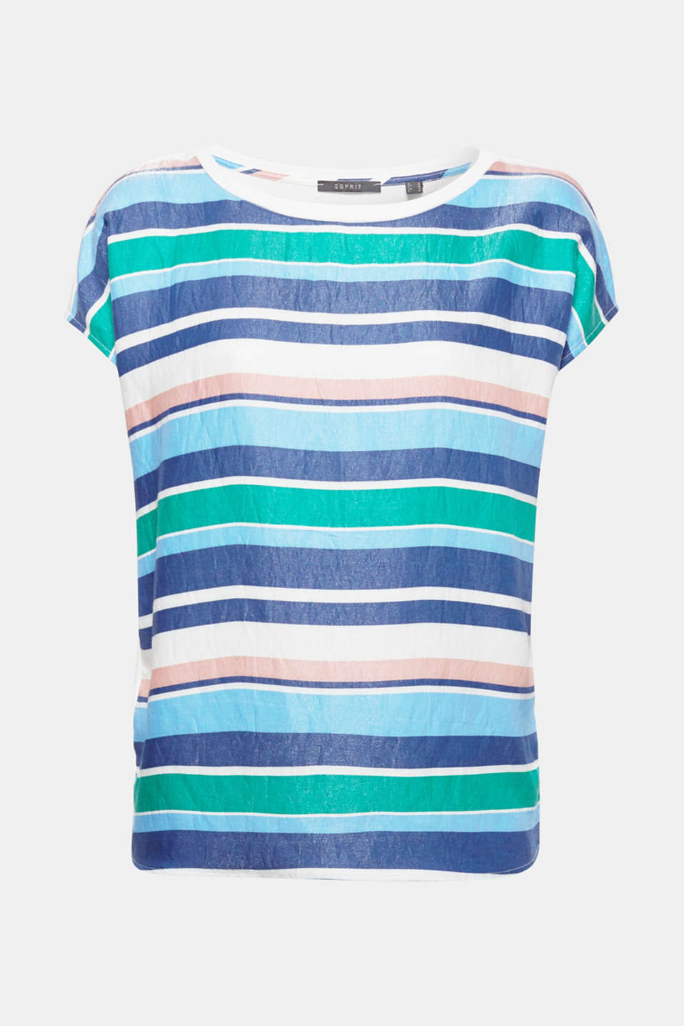 Multi-coloured stripes with a technical sheen give this material mix shirt its modern look!