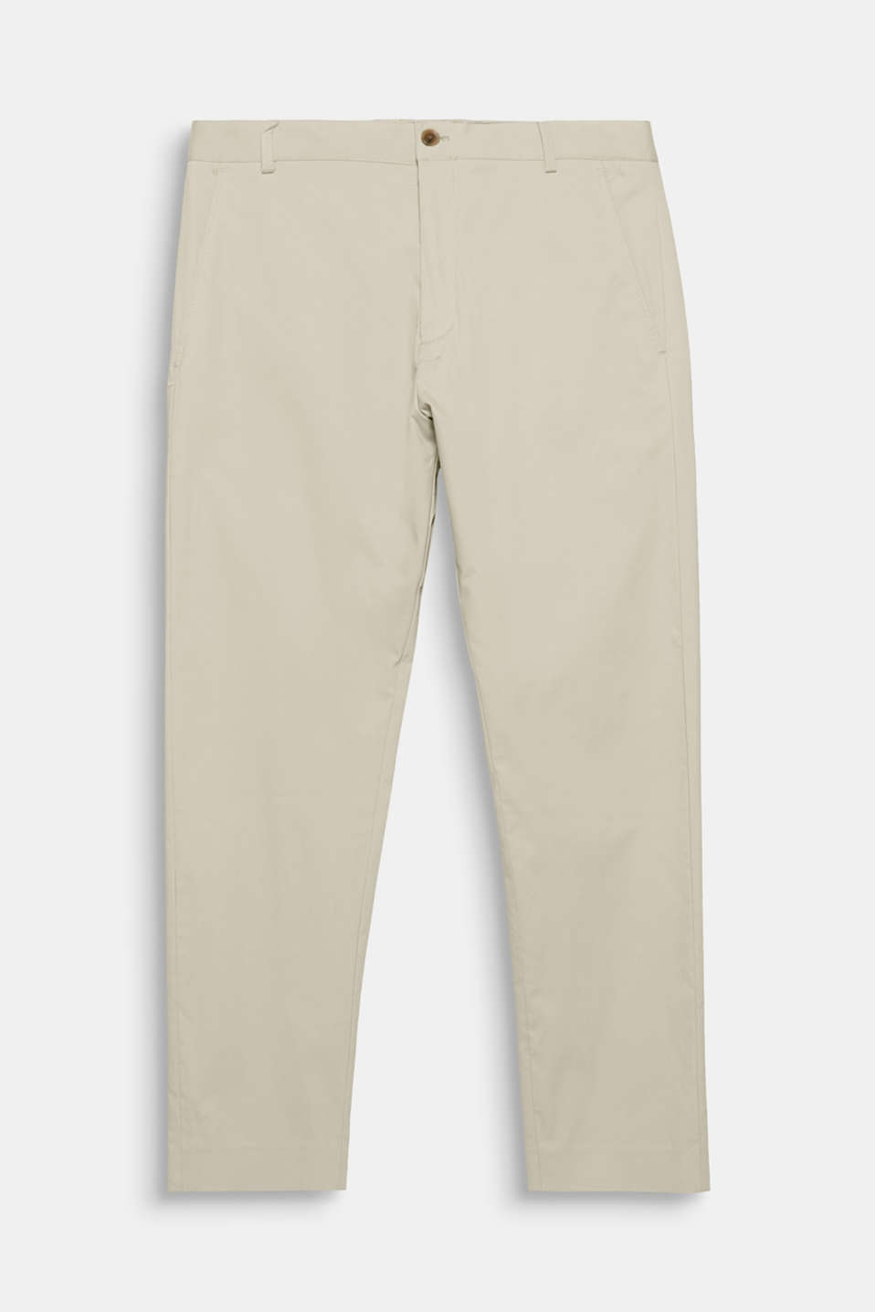 Perfect for your sporty suit look! The lightweight cotton fabric with stretch for comfort and the modern fit give these suit trousers a straightforward summer look.