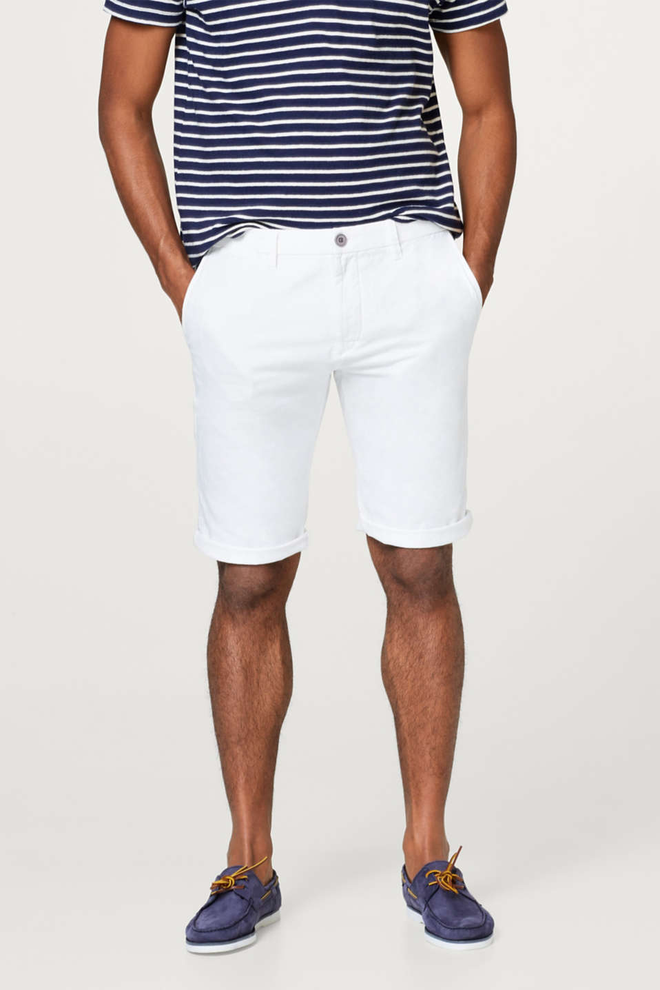 Esprit - With linen: twill chino shorts