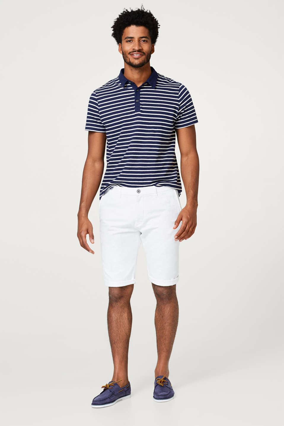 With linen: twill chino shorts