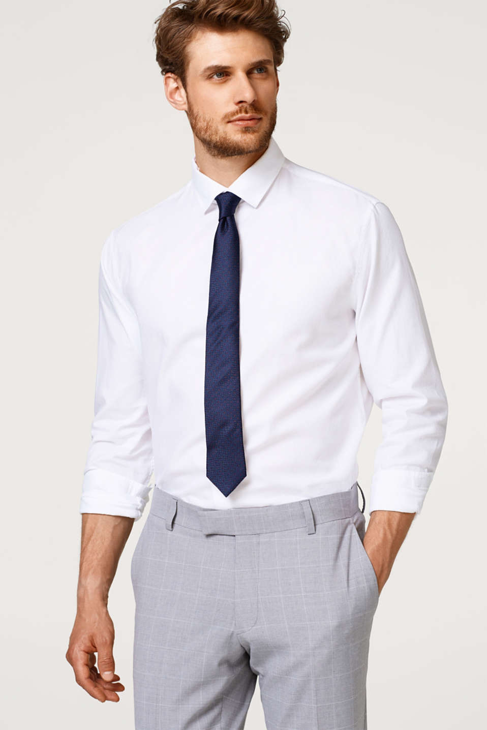 Esprit - Textured shirt in 100% cotton