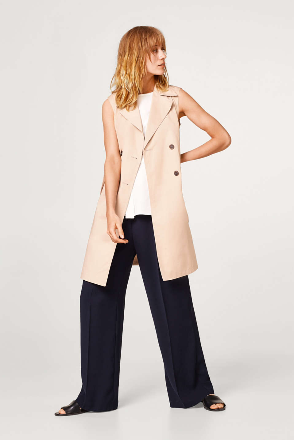 Trench a gilet, 100% cotone