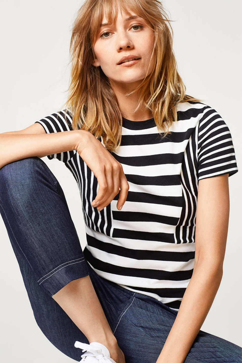 Esprit - Striped T-shirt in 100% cotton