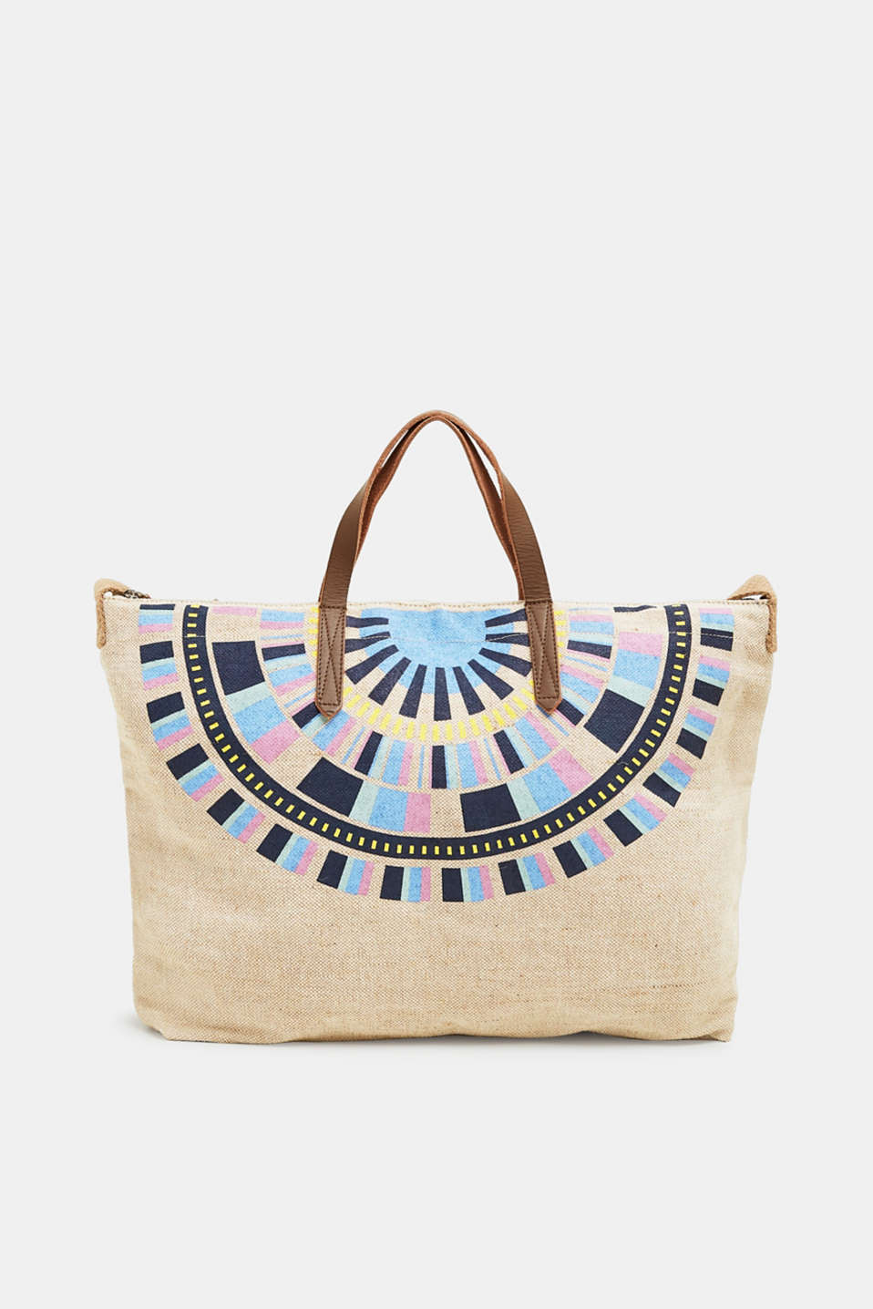 edc - Canvas-Shopper mit Ethno-Print