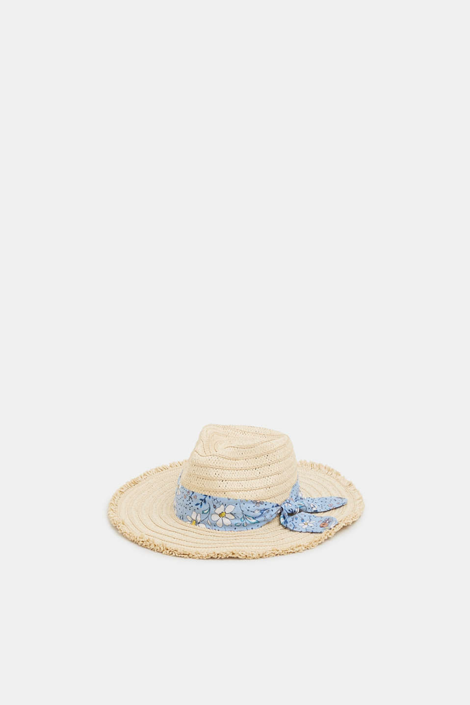 edc - Straw trilby with a fabric band