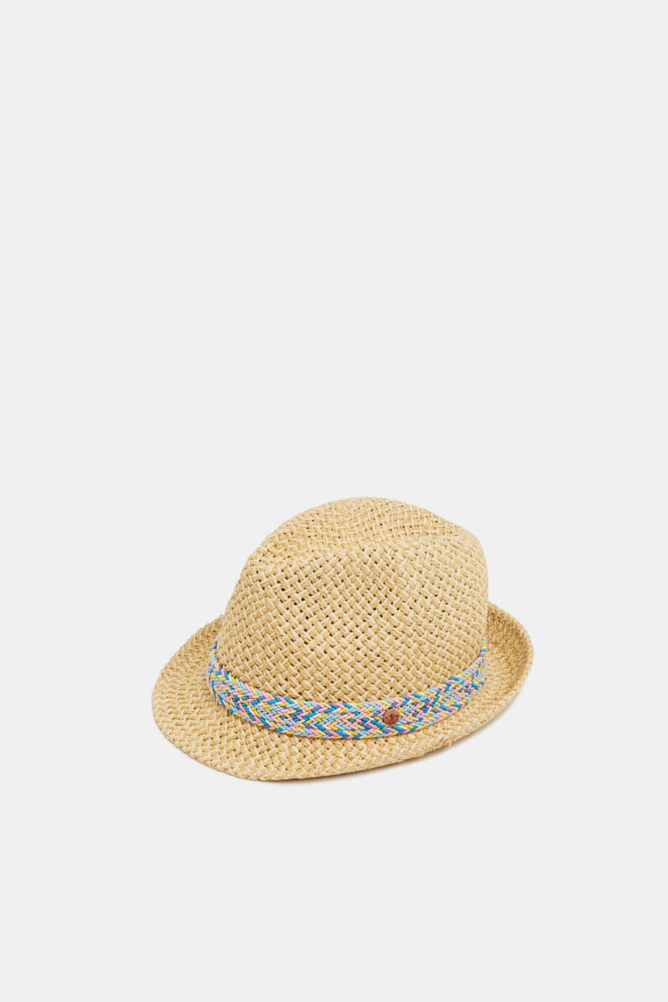edc - Straw hat with a decorative ribbon
