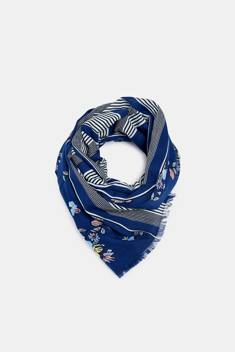 edc - Scarf with mixed pattern, 100% cotton