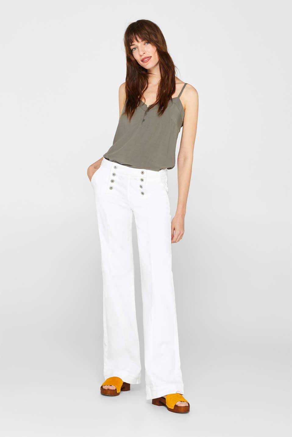 Pants denim, WHITE, detail image number 1