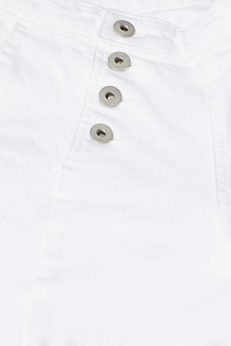 Pants denim, WHITE, detail image number 4