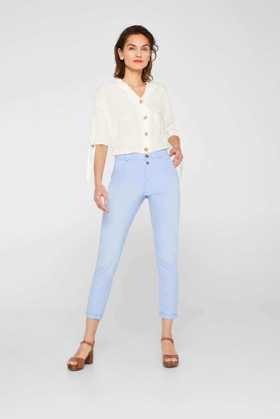 Pants woven, LIGHT BLUE, detail image number 1