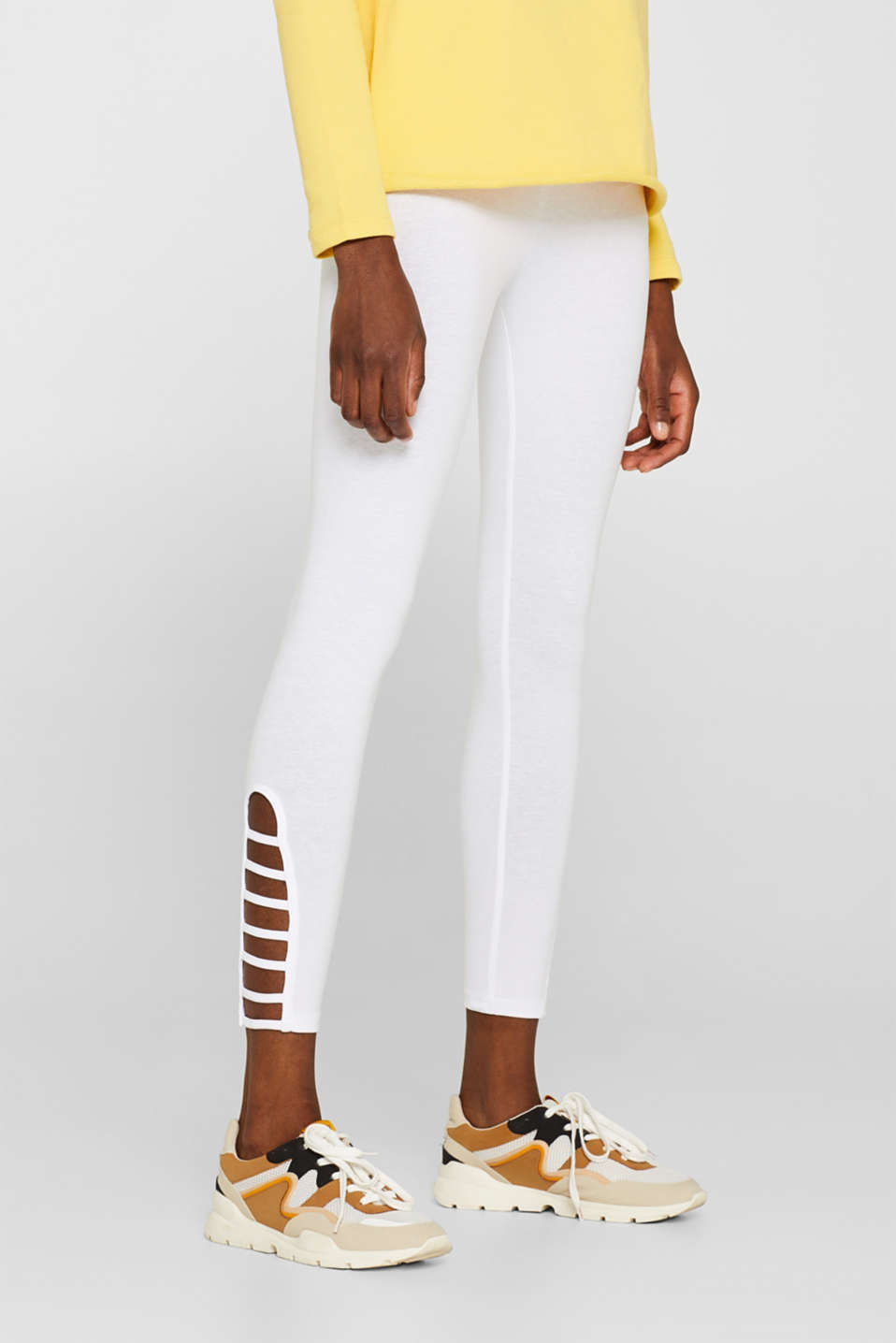 edc - Opaque Capri leggings with cut-outs