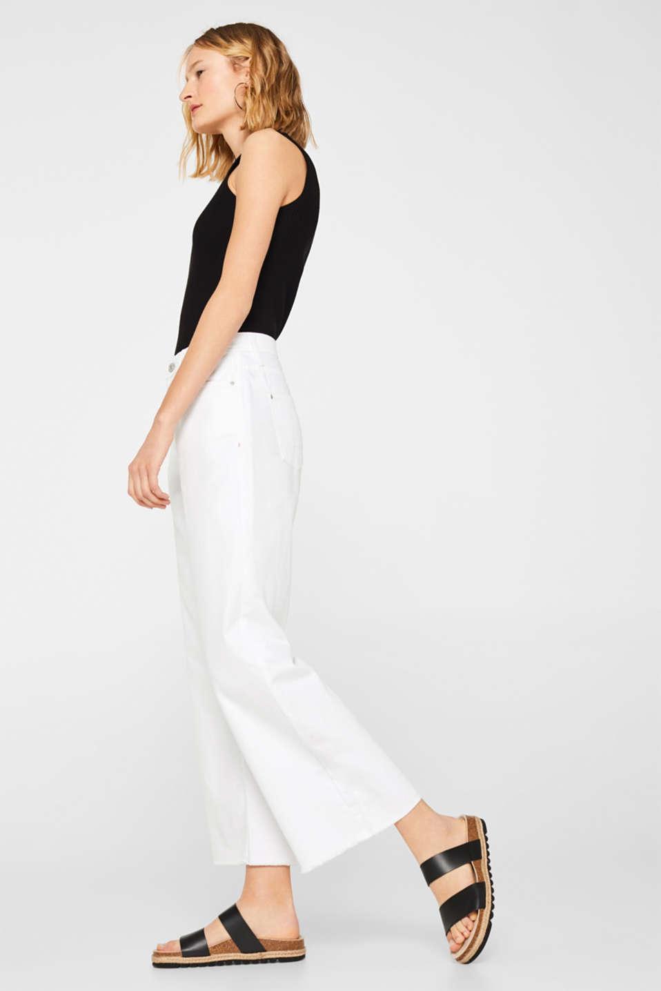 Pants denim, WHITE, detail image number 5