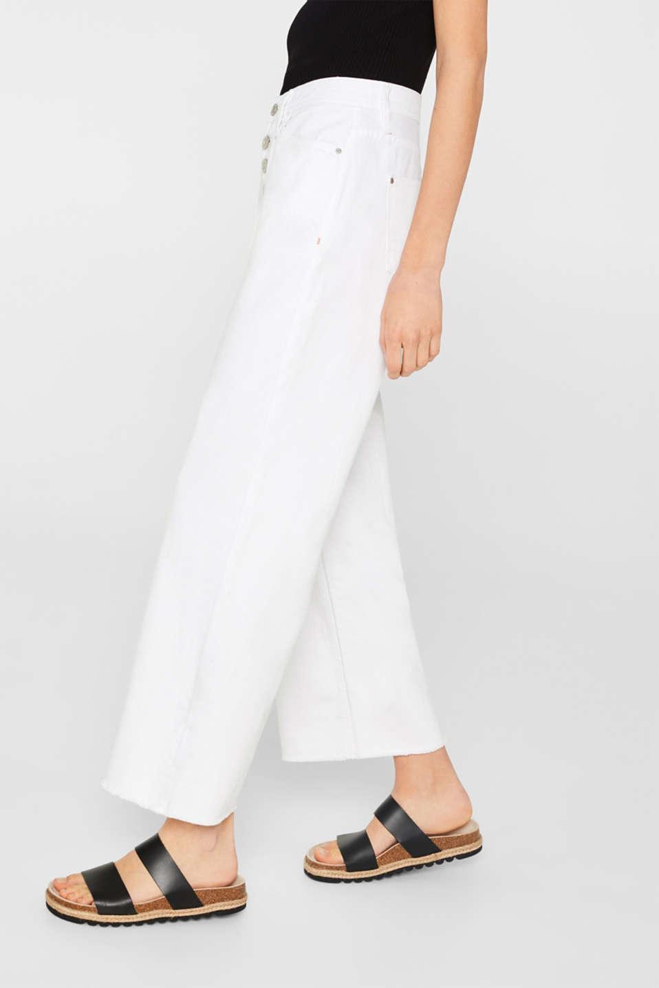 Pants denim, WHITE, detail image number 7