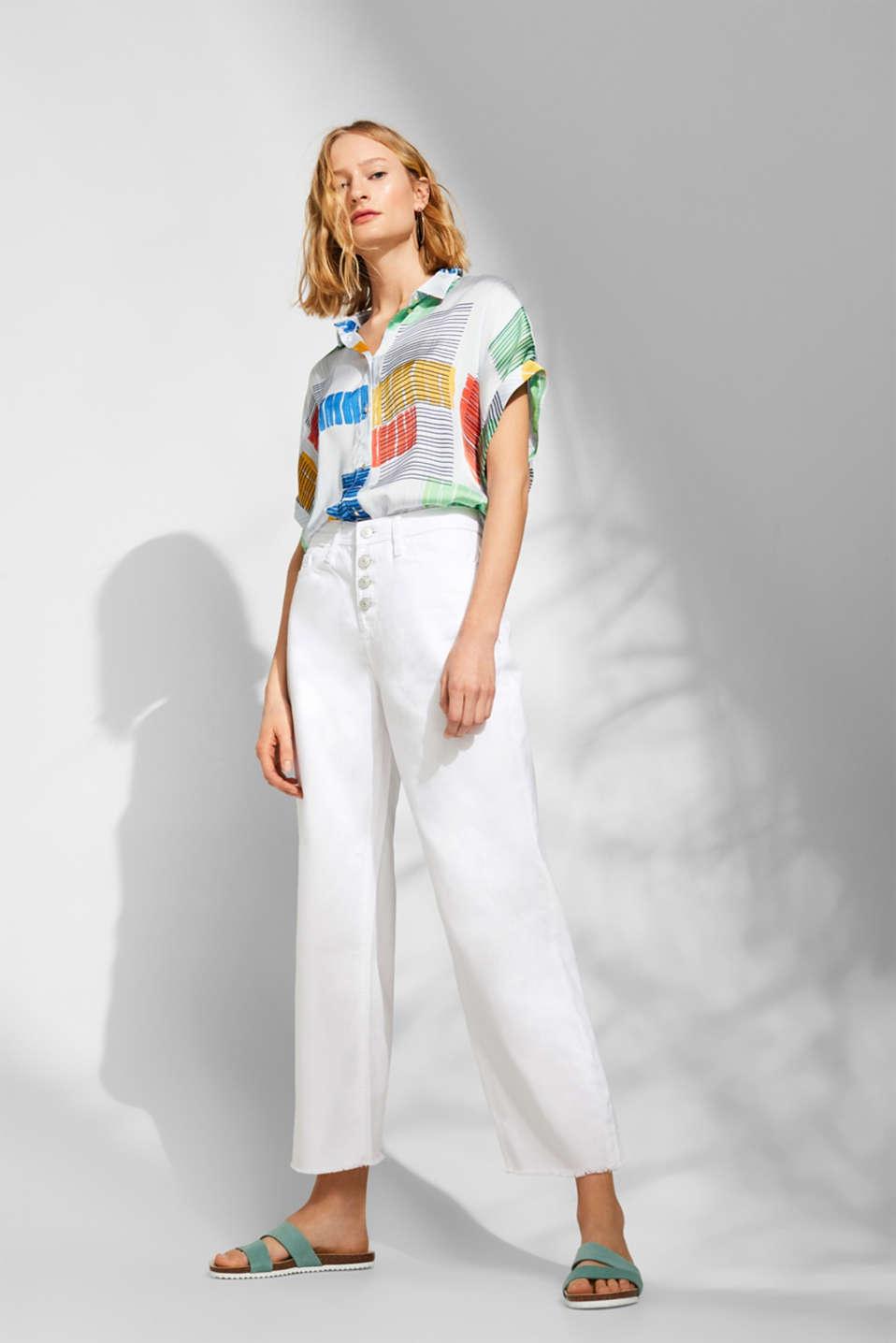 Pants denim, WHITE, detail image number 8