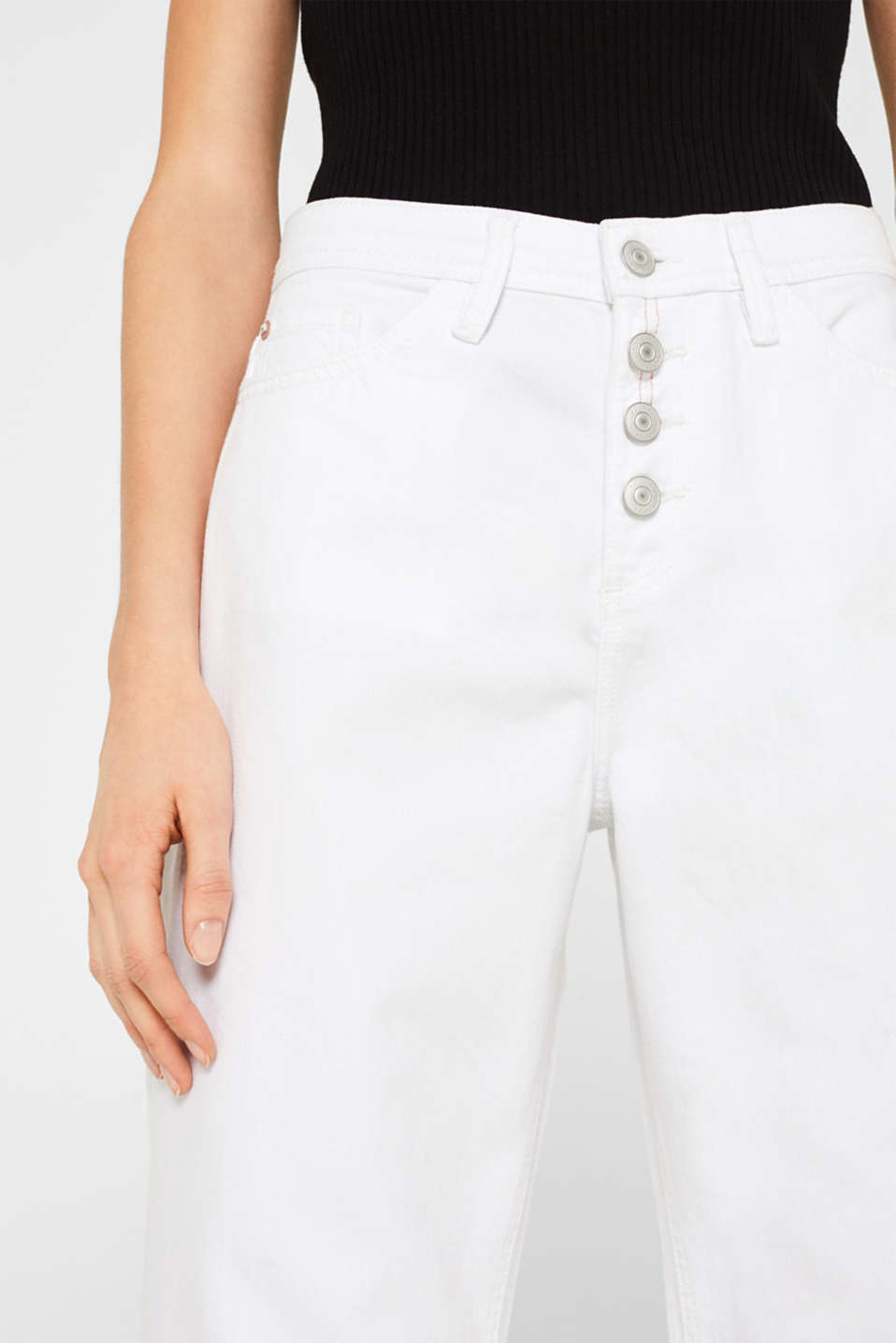 Pants denim, WHITE, detail image number 2