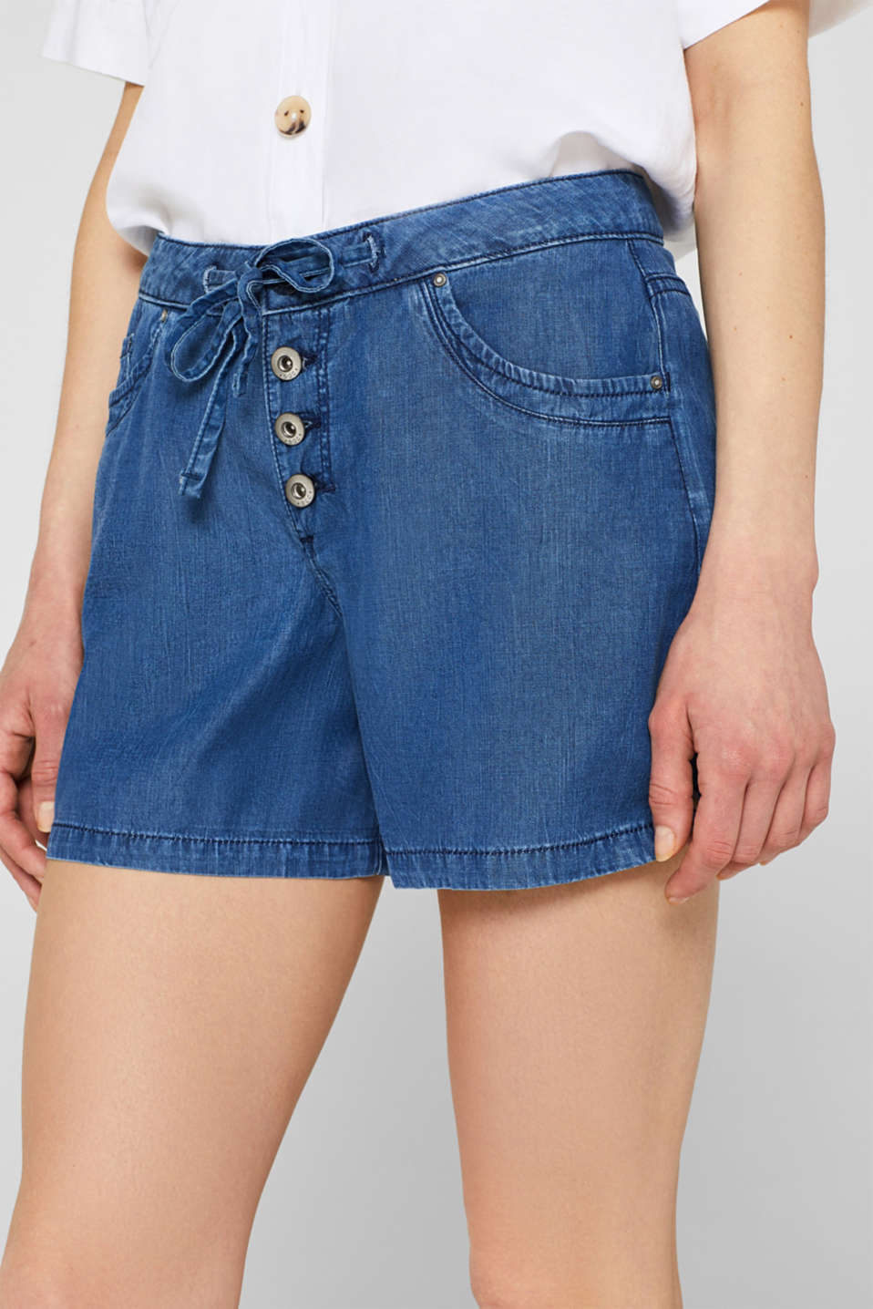 Shorts denim, BLUE MEDIUM WASH, detail image number 2