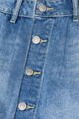 Denim mini skirt in 100% cotton