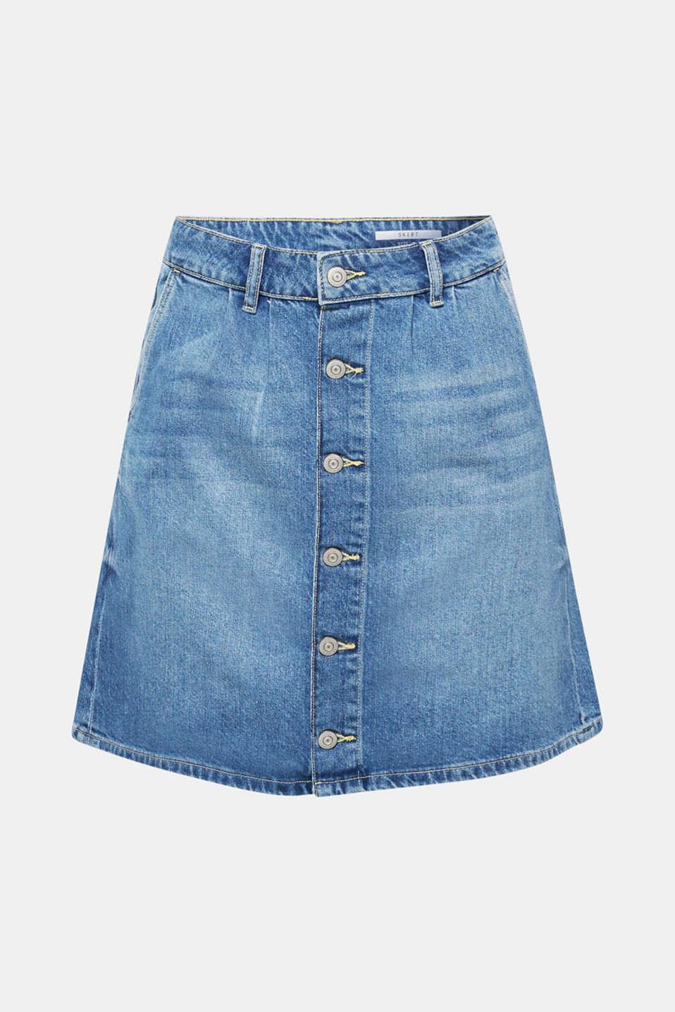 Skirts denim, BLUE MEDIUM WASH, detail image number 7