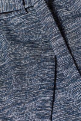 Jersey mini skirt with a tie-around belt