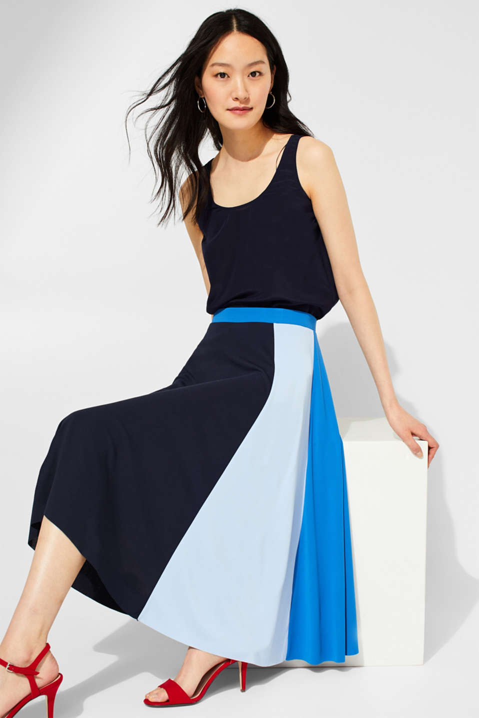 edc - Midirok in colour-block-stijl