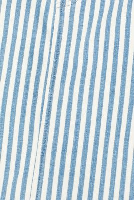 Stretch denim skirt with stripes