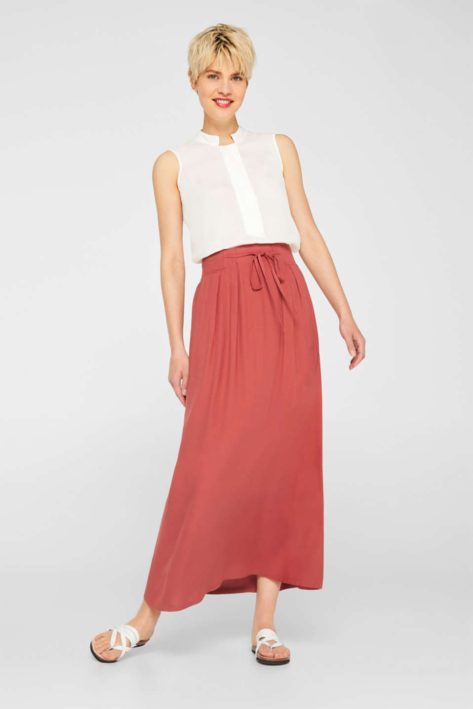 edc - Maxi skirt with a wide, embellished waistband