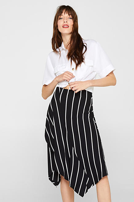 359deb39b8f Stretch jersey skirt with an asymmetric hemline