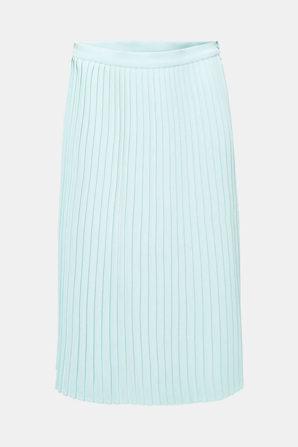 Pleated skirt in a midi length, LIGHT AQUA GREEN, detail image number 6