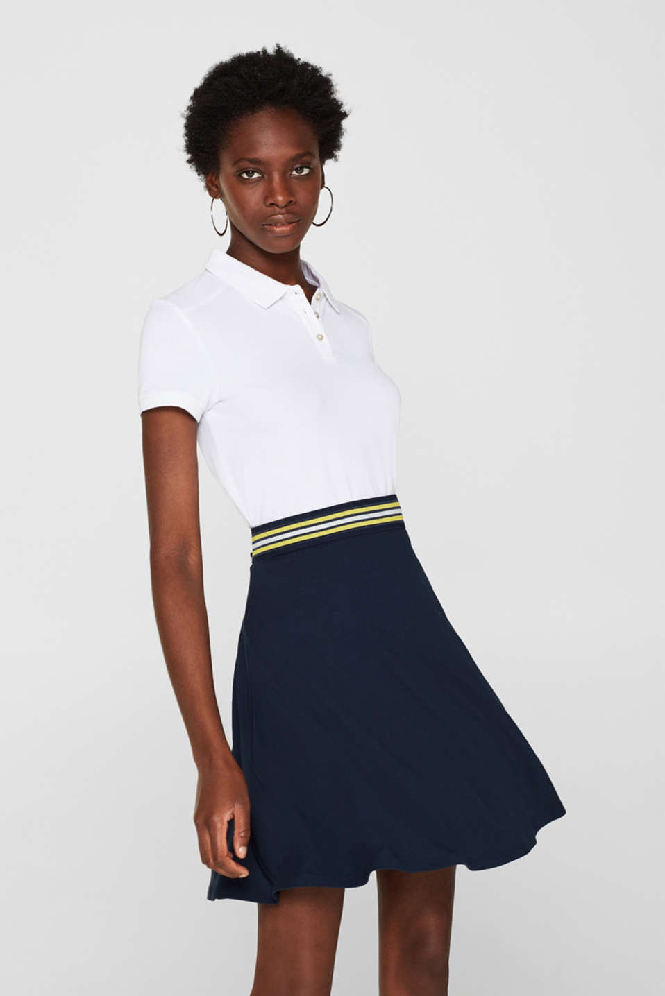 edc - Mini skirt with striped waistband