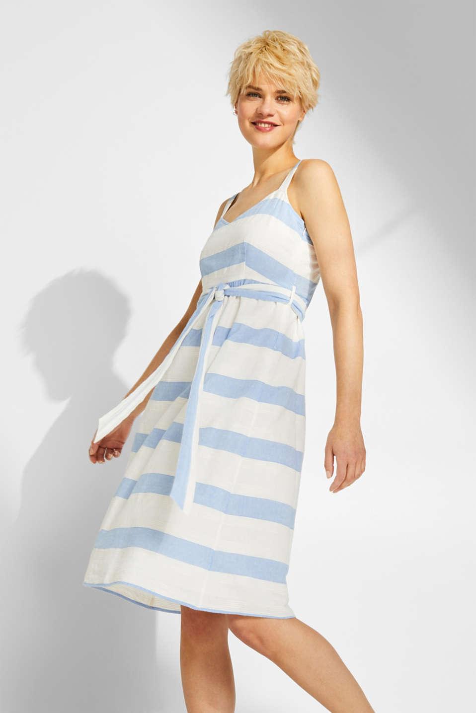 17ea9caeaf65e9 edc - Sukienka na ramiączkach w fakturowane paski, 100% bawełny w ...