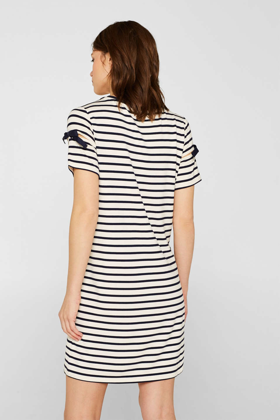 Jersey dress with knotted details, NAVY, detail image number 2